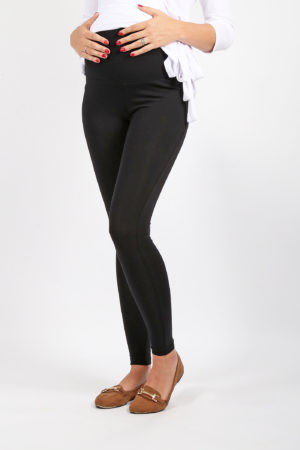 Maternity Leggings | Maternity Bottom | Black | Full Length Front View | Maternity Wear South Africa
