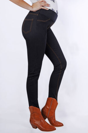 Lauren Jean | Maternity Bottom | Black | Full Length Side View | Maternity Wear South Africa