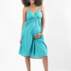 babydoll dress blue full length front