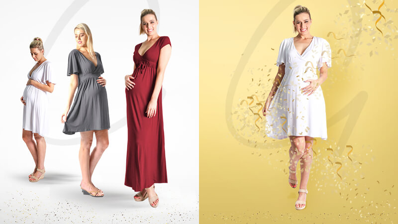 Fashionable Pregnancy Dresses on Show