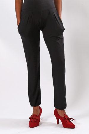 Mum Harem Pants | Maternity Bottom | Black | Full Length Front View | Maternity Wear South Africa