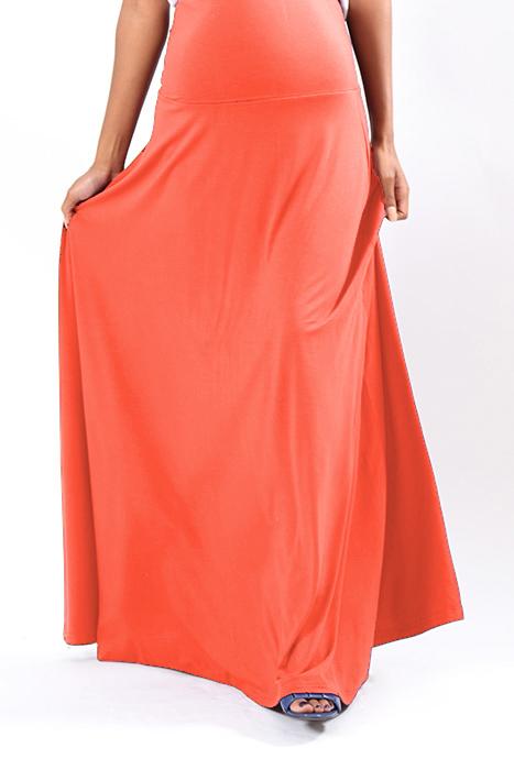 mandy skirt coral full length front 3