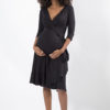 ruffle wrap dress full length front